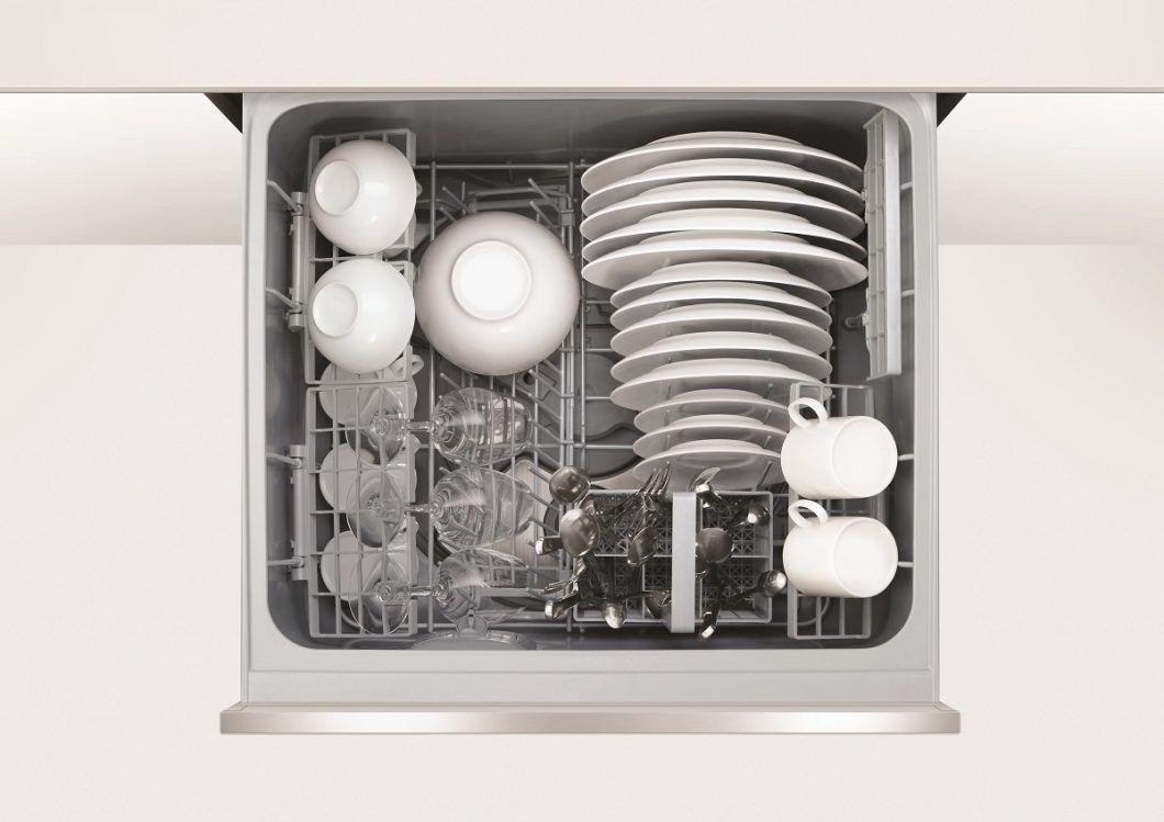 Der Dishdrawer Double Eine Schublade Als Geschirrspuler In 2020 Geschirrspuler Kuche Einbauen Schubladen