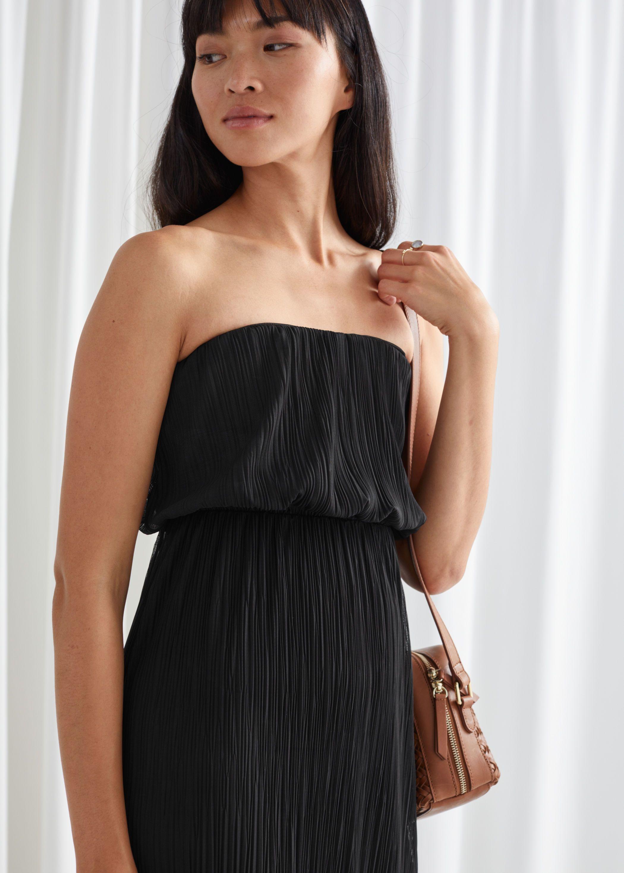 Strapless Fitted Midi Dress Fitted Midi Dress Midi Dress Dresses [ 2940 x 2100 Pixel ]