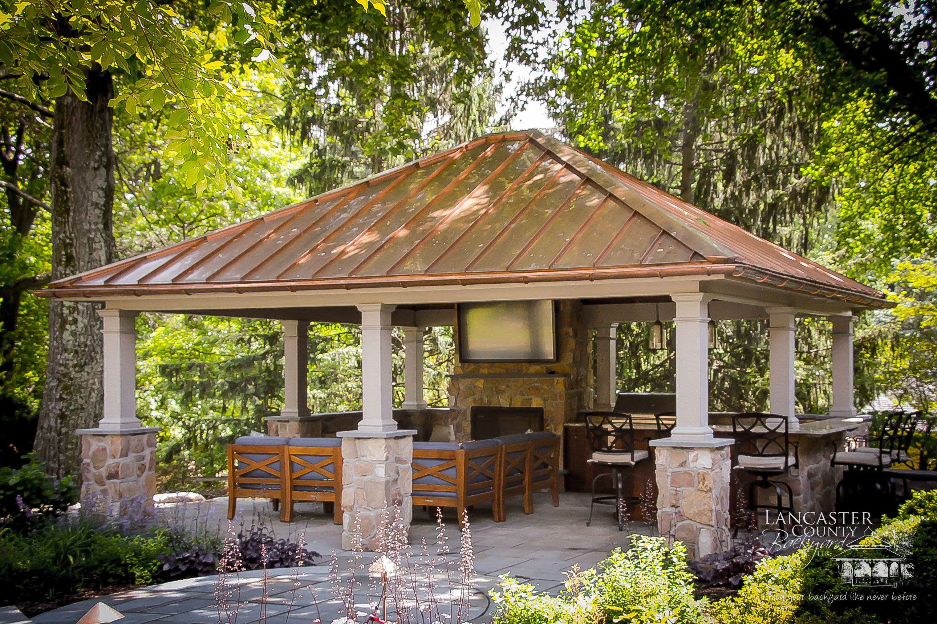 Vinyl Pavilions Backyard Backyard Pavilion Pavilion Design