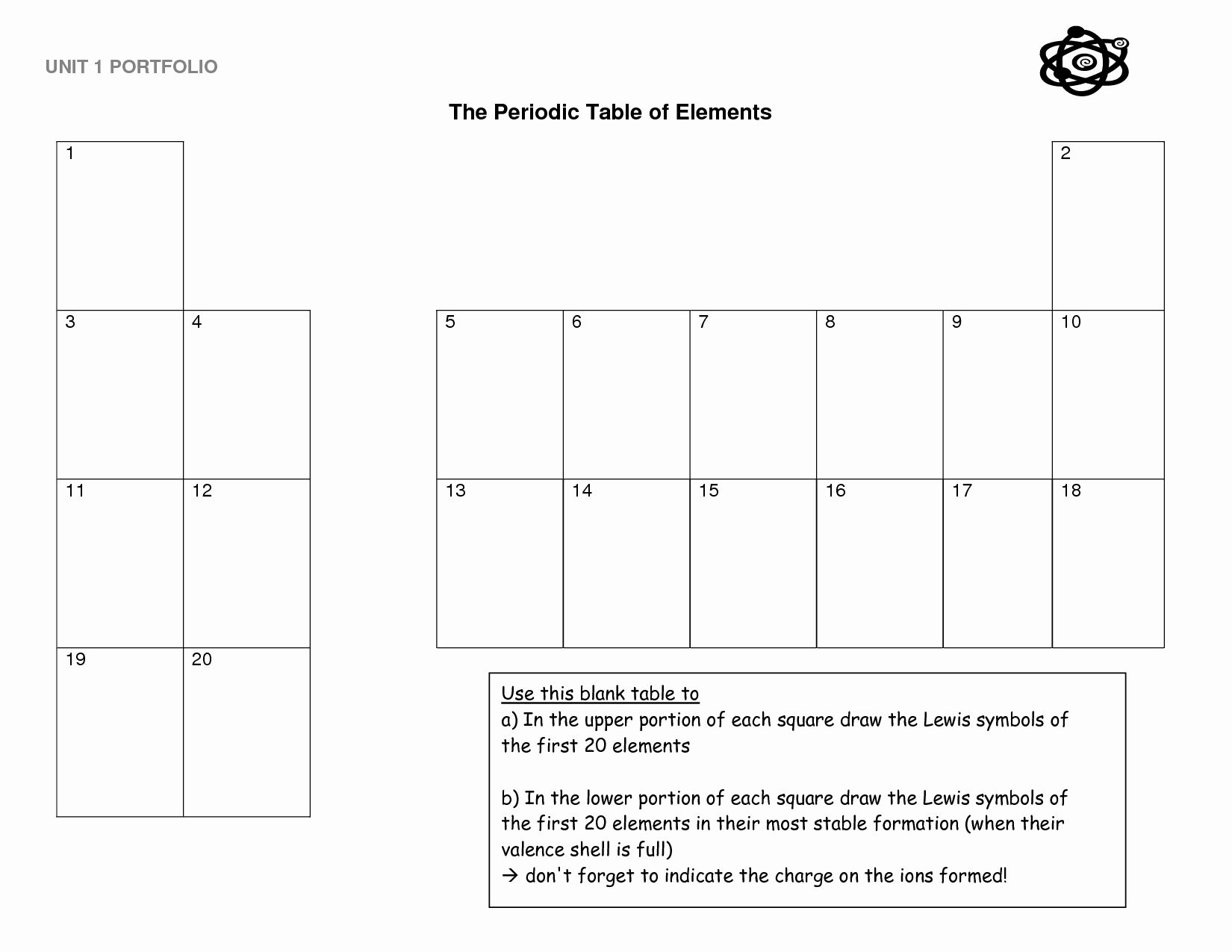 Blank Periodic Table Worksheet Lovely Periodic Table
