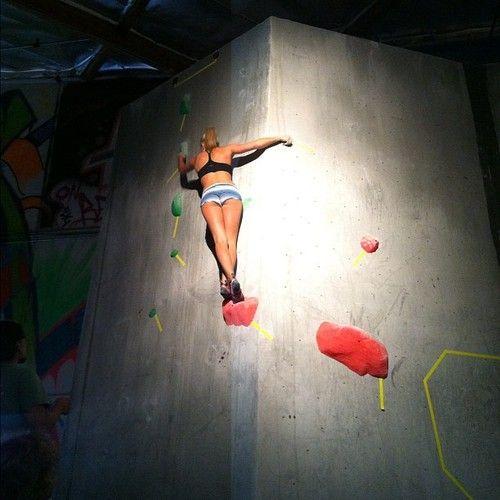 Sierra Blair-Coyle    Photo Courtesy of: Margaux Brooke    2012 Aesthetic Climbing Gym Invitational    Women's Final 1