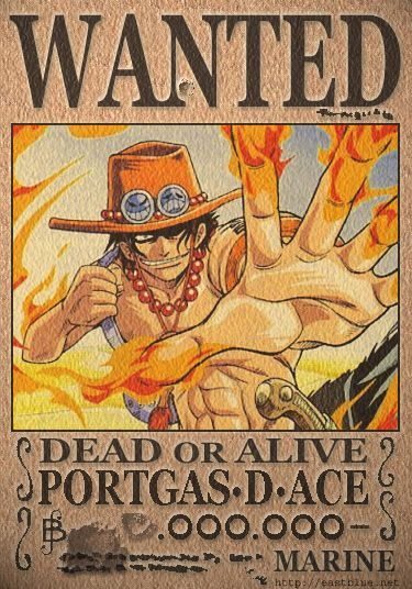 Portgas D Ace The Community Says That His Last Wanted Poster Has A 900 000 000 Million Berry Bounty Kartun Animasi Hiburan Anime wallpaper one piece wanted