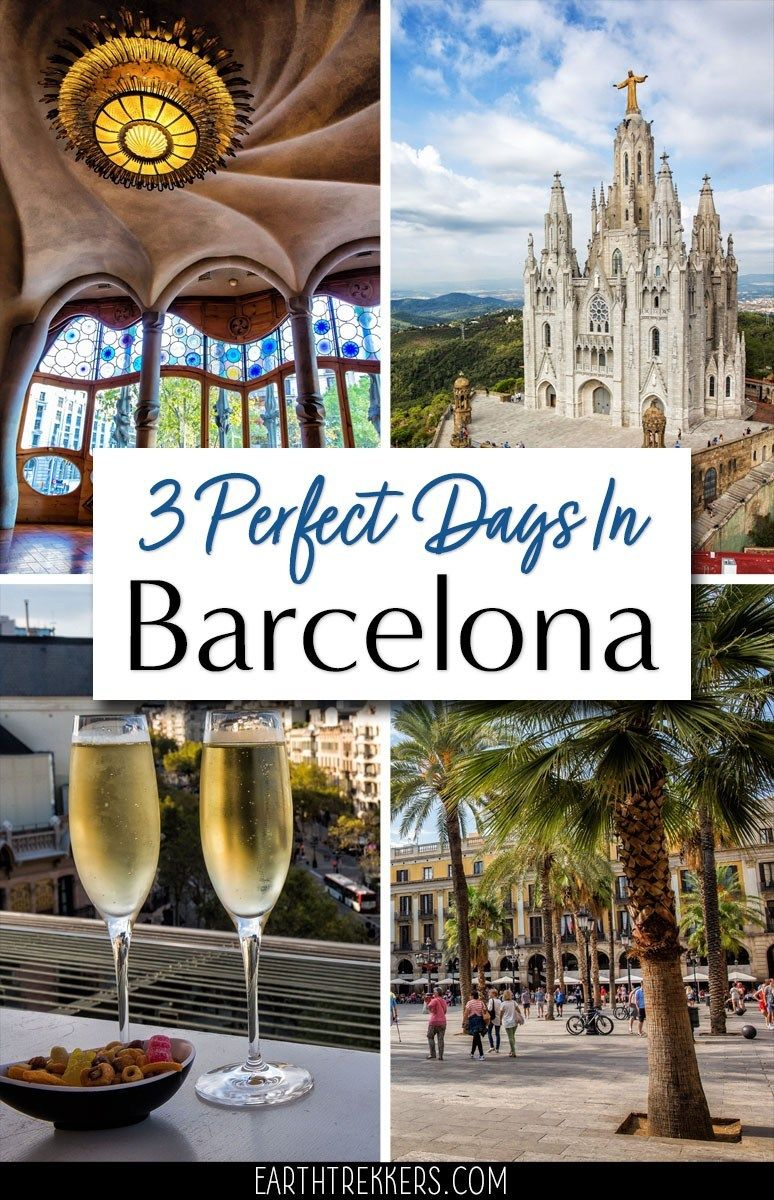3 day Barcelona Itinerary and Travel Guide: best things to do, money saving tips, how to skip the lines, where to eat and where to stay. #barcelona #spain #travelitinerary #bucketlist