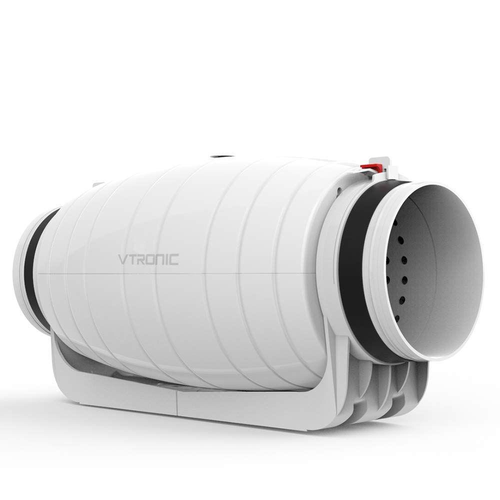 Vtronic 6 Silent Inline Duct Fan Pre Wired Exhaust Fan 25db 550 Cfm Speed Controllable Booster Fan Automatic Gates Driveways Exhaust Ventilation Exhaust Fan