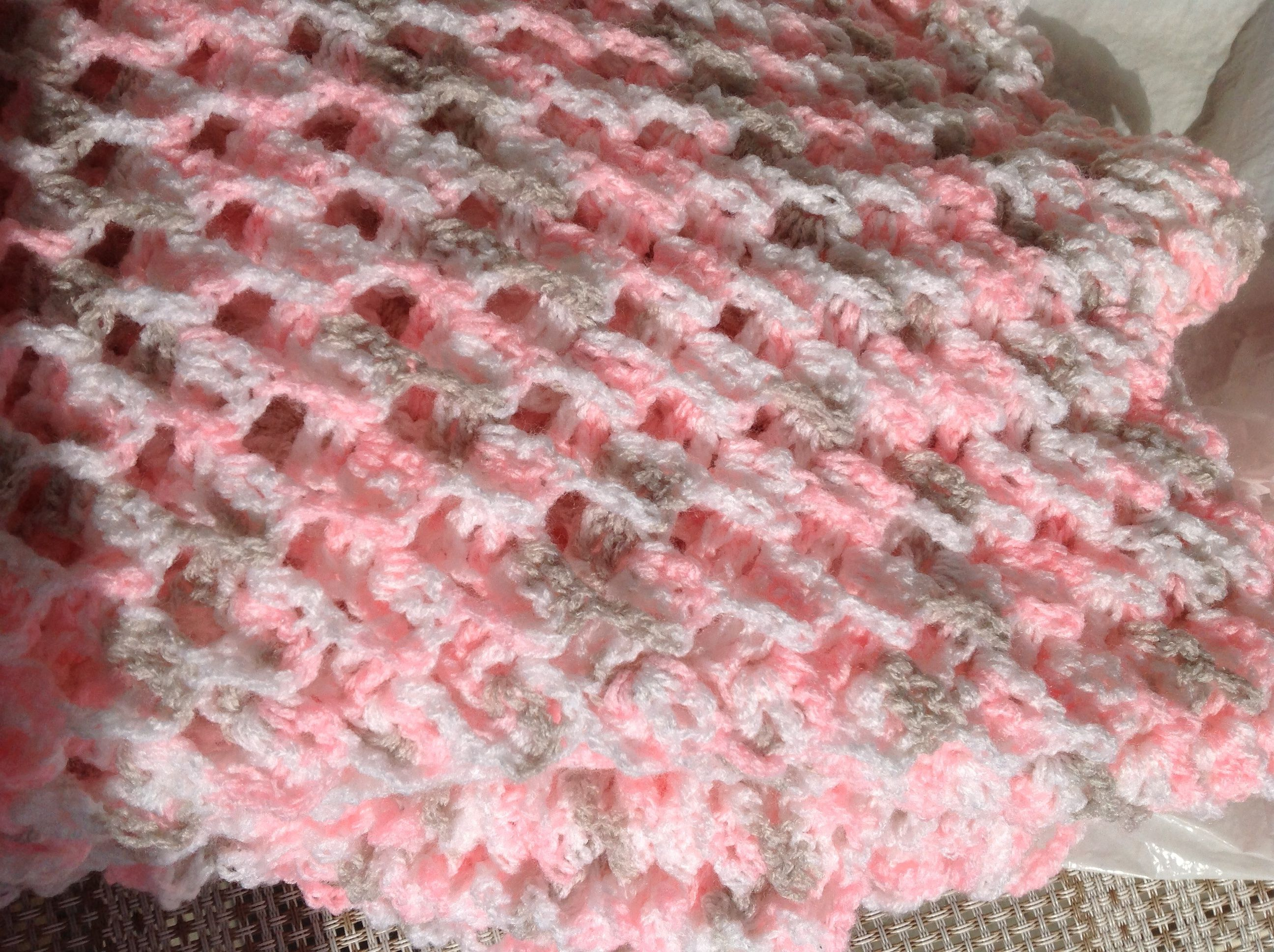 Dimensional baby afghan from all free crochet pattern . I used ...