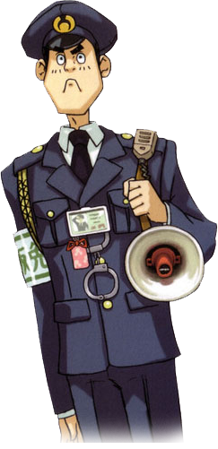Officer Meekins From Phoenix Wright Ace Attorney Inspiration For Mall Cop Character Mall Cop Phoenix Wright Character