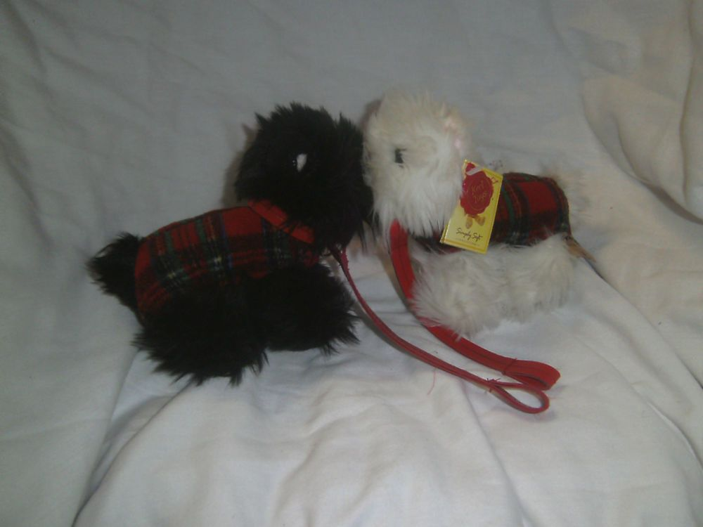 Scottie Dogs - Black & White - Keel Toys - 2 Soft Toy Dogs