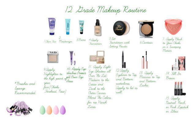 12 Grade Makeup Routine My Polyvore Finds School Makeup High