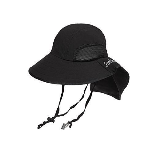 5573e5f93b6 SunWay Sun Visor Wide Large Brim Hat UPF 50+ (black)