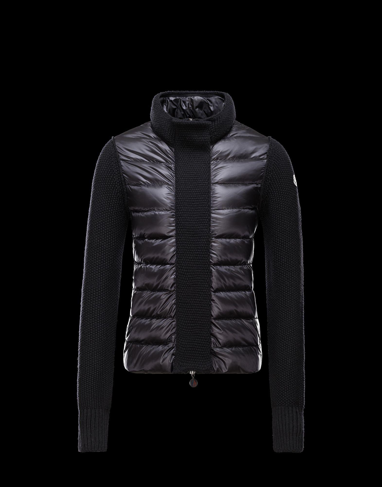 c76a02139 2016 Fall-Winter Moncler Cardigan Womens Sweater Black | Introducing ...