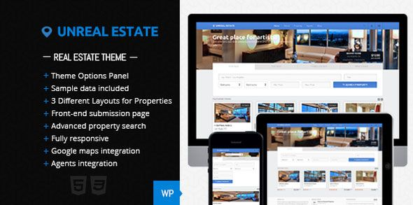 Free Unreal Estate - Real Estate WordPress Theme - http ...