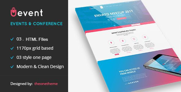 Uevent - One page Event Management HTML Template (Business) - http ...