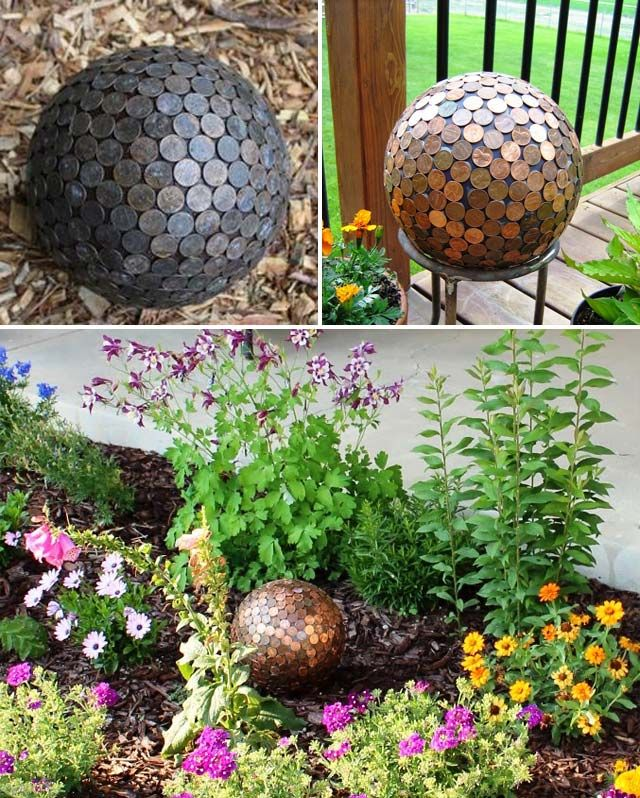 Cool Diy Garden Globes Make Your Garden More Interesting Decoration Jardin Globe Jardin Pots De Fleurs En Ciment