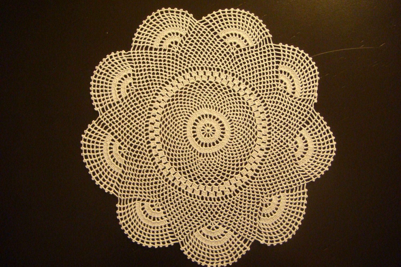 White Crochet Doily / Lace Doilies /  lace tablecloths