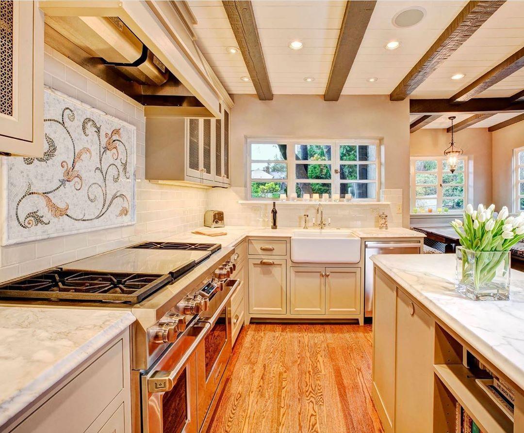 Custom Kitchen Tile Backsplash In Seattle Custom Kitchen Tile Wooden Kitchen Wooden Countertops Kitchen