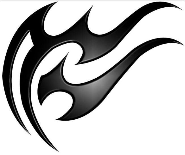 tribal effect aquarius tattoo idea