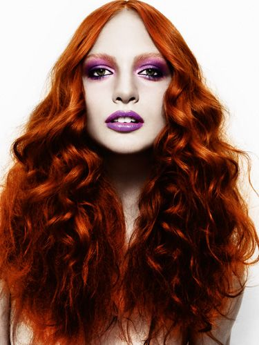 love the red hair and purple make up
