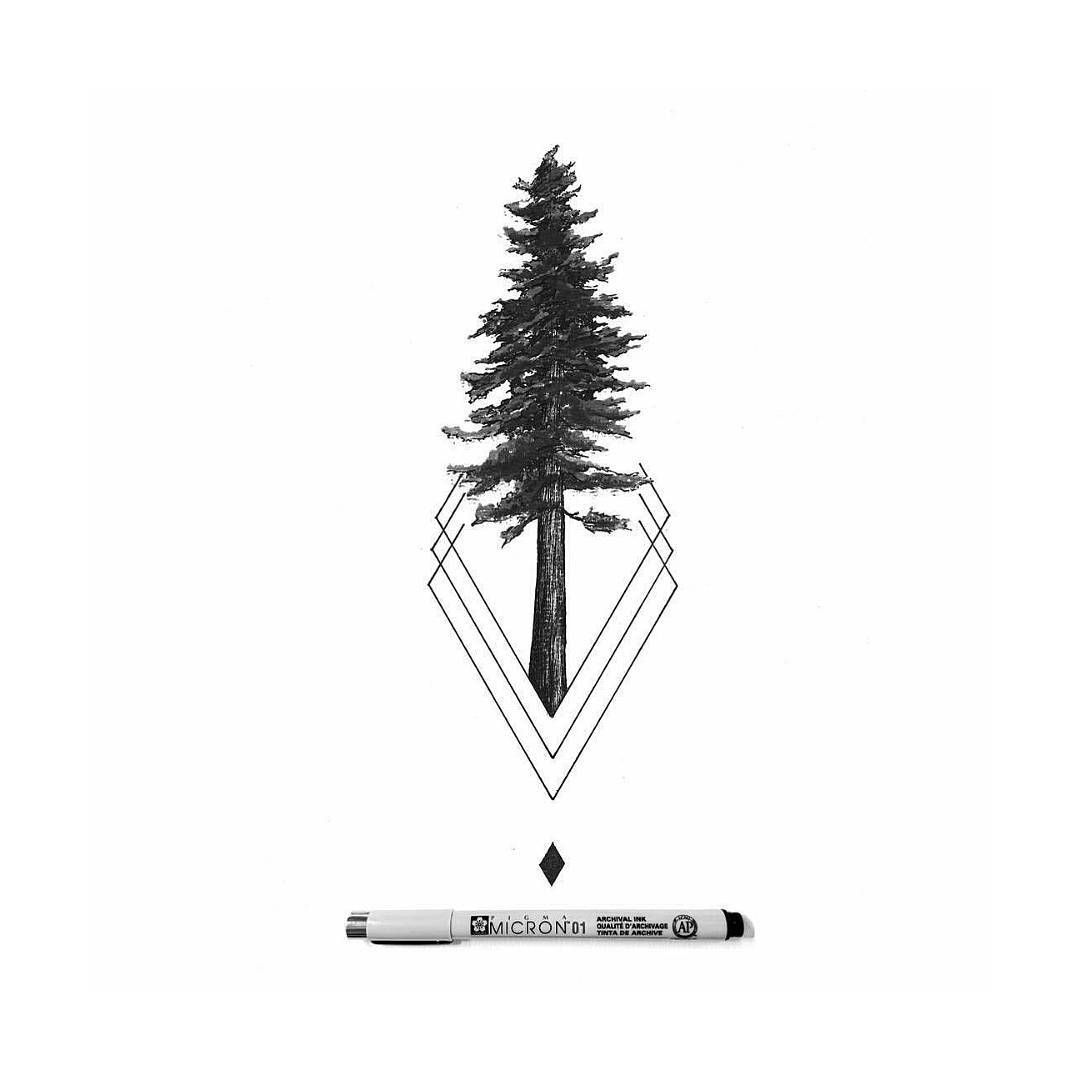 "Black and White Illustrations on Instagram: ""Beautiful simple tree by @derek_the_deliman #blackworknow if you would like to be featured"""