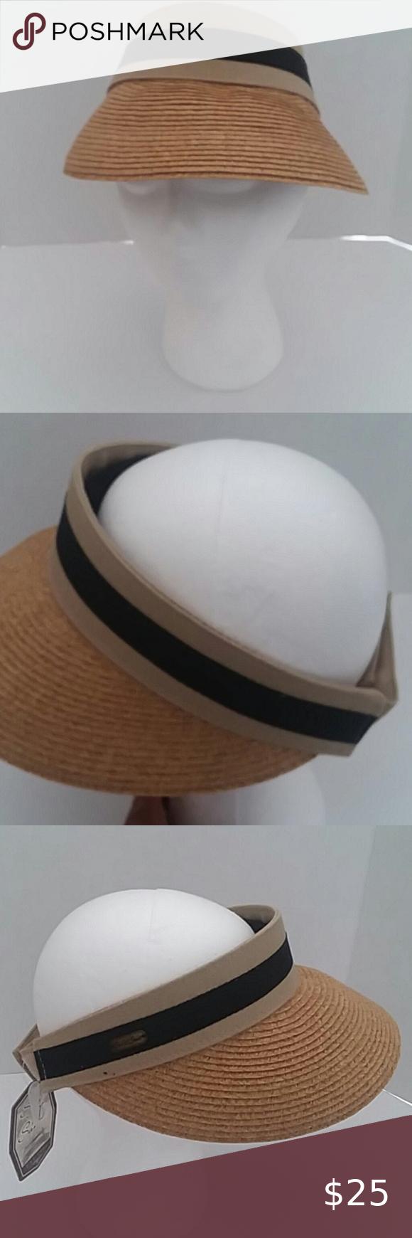 Nwt Sun N Sand Big Brim Straw Visor Hat Straw Visor Visor Hats Brim