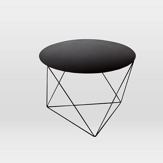 Amigo Modern Octahedron Side Table Side Table Black Side Table