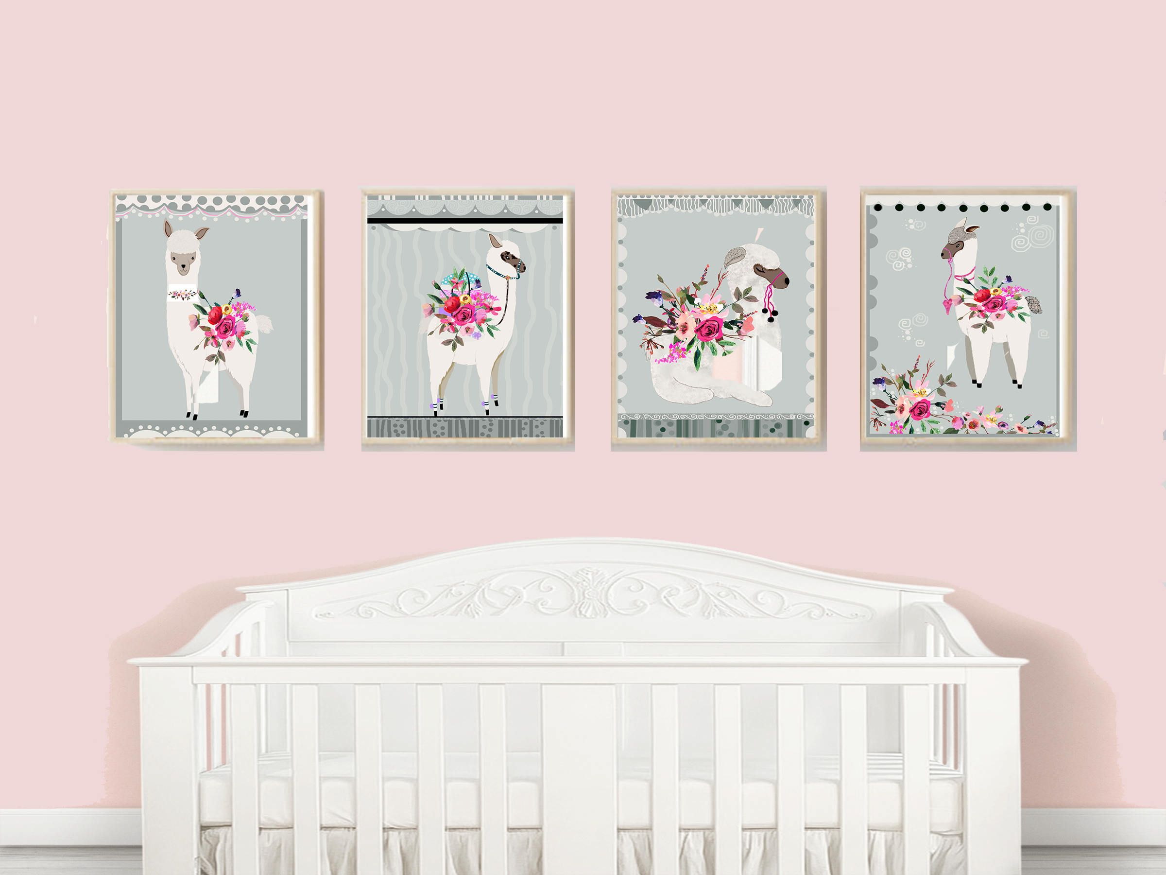 Alpaca Home Decor, Alpaca Baby Nursery, Nursery Room Decor, Alpaca ...