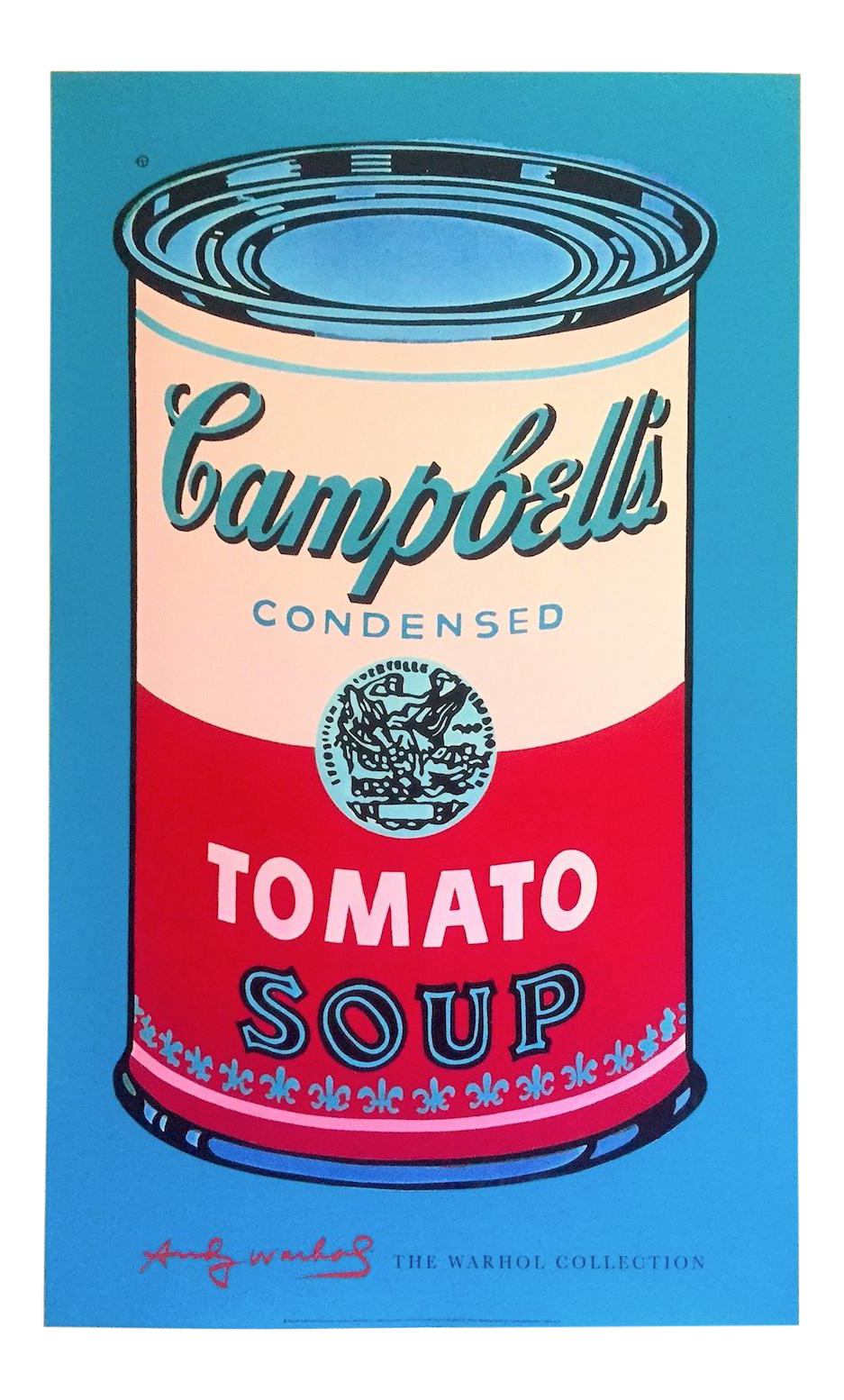 Andy Warhol Foundation Lithograph Print Pop Art Poster Campbell S Soup Can Red Pink 1965 Pop Art Posters Campbell S Soup Cans Andy Warhol Art