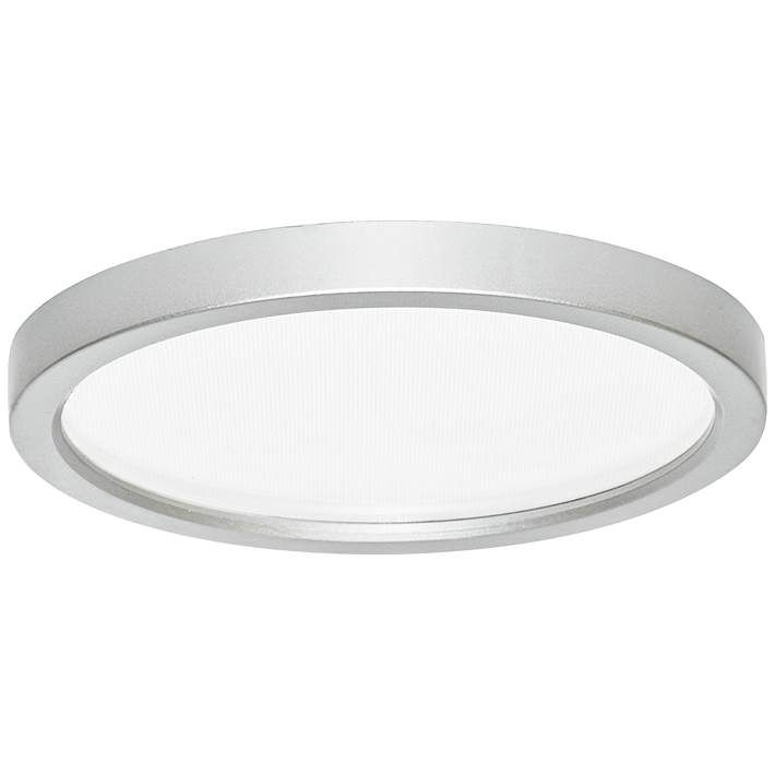 Slim Disk 5 1 2 W Nickel 9w Led Round Surface Mount Light 9y205 Lamps Plus Led Recessed Light Bulbs Led Ceiling Light Fixtures Led Recessed Lighting