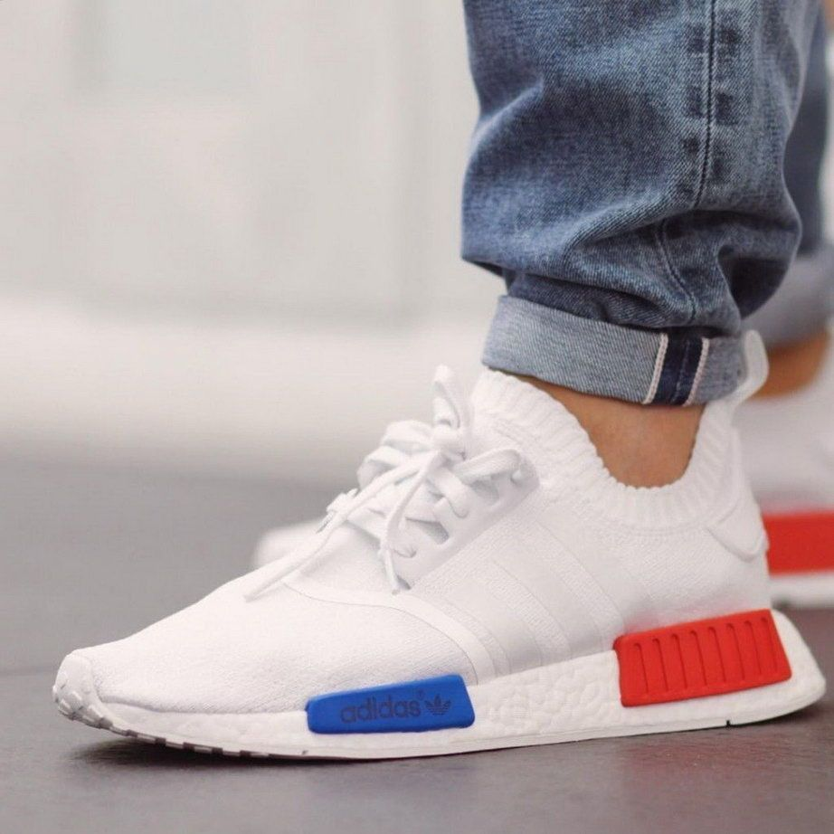 UK Official Store 100% Authentic Mens Adidas NMD WHITE OG