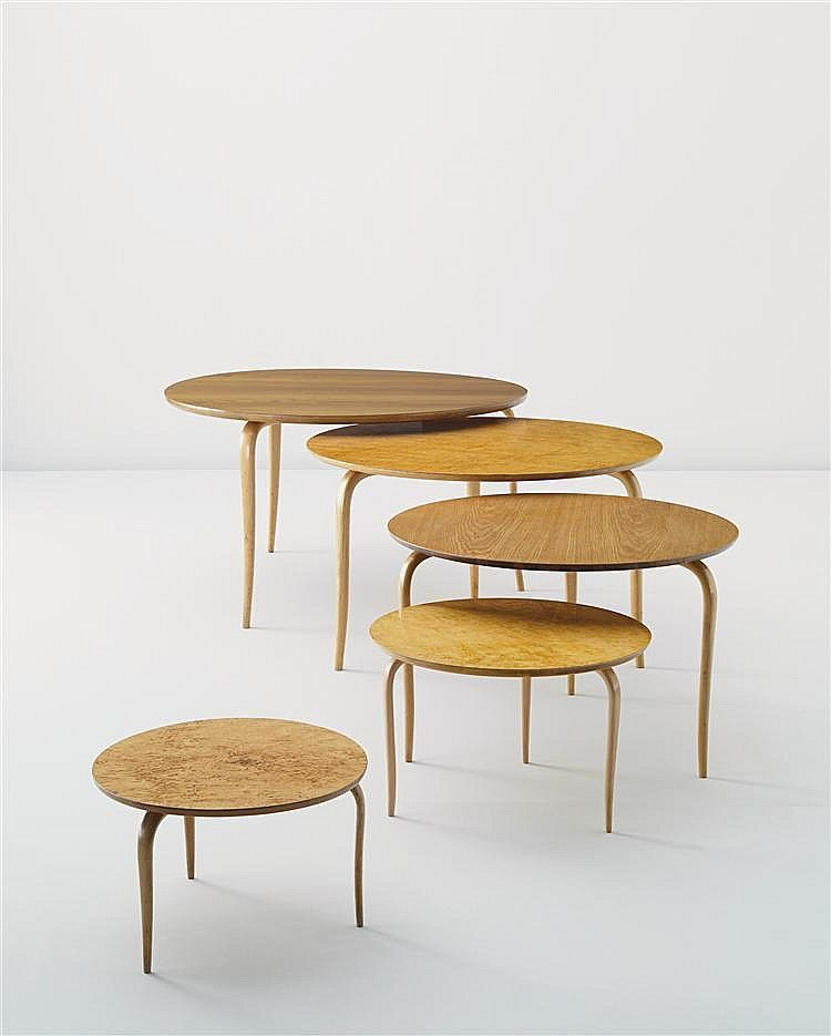 Bruno Mathsson Birch Tables For Karl 1960s Furniture Danish Modern