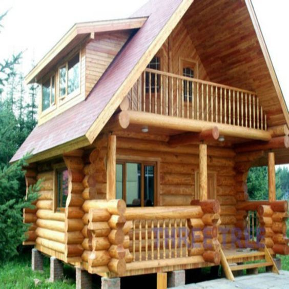 Asymmetrical Log Housing Small Wooden House House Architecture Design Wood House Design