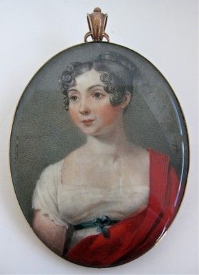 Beautiful Early 1800's GEORGIAN Finely Painted Portrait Miniature of Lady