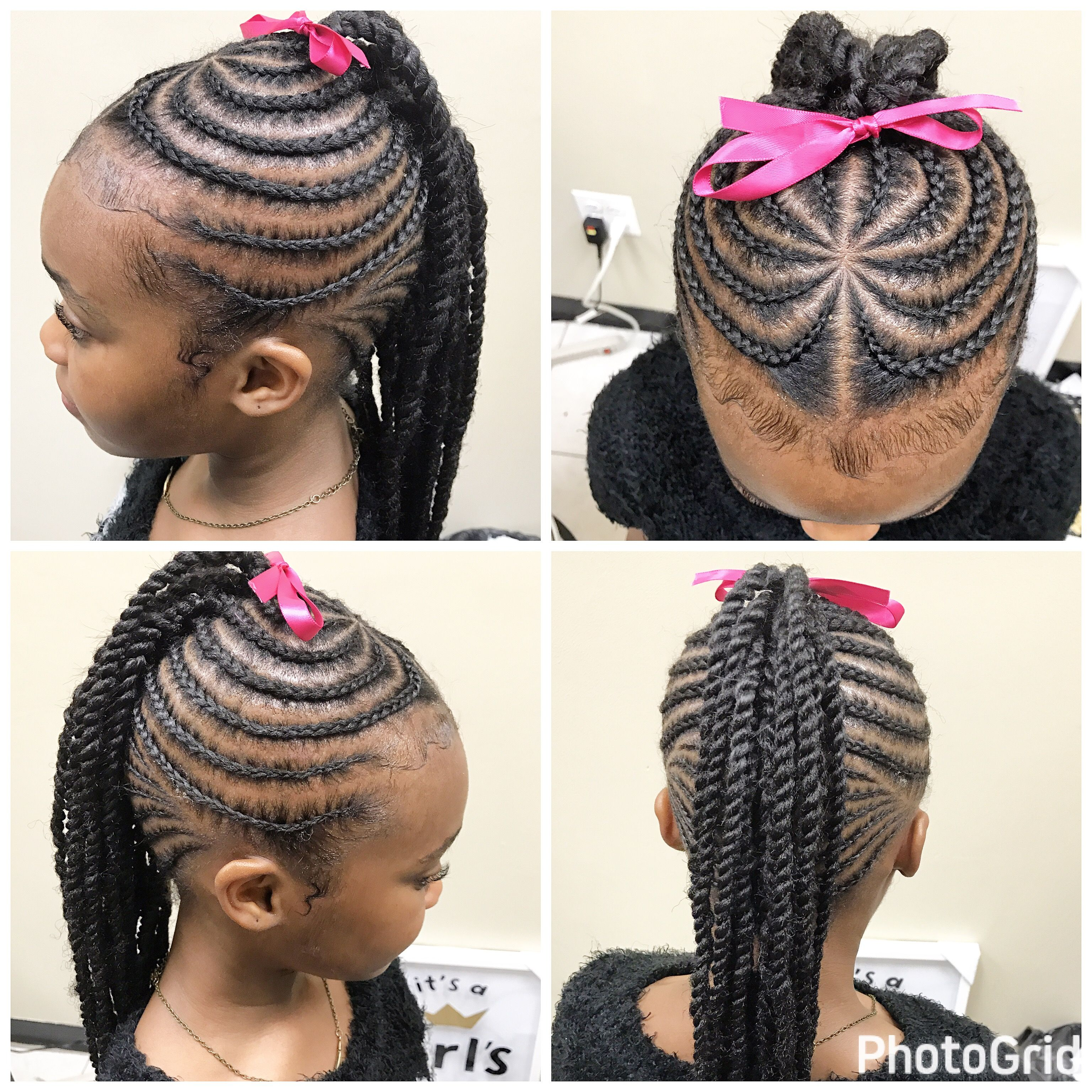 Braid color combo inspiration for summer kid braids hair style