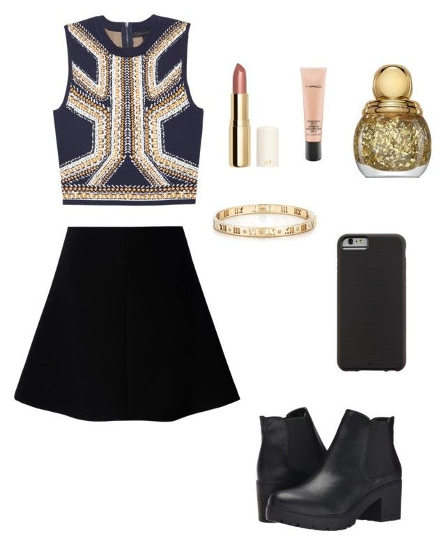 """Untitled #39"" by paigeoctober on Polyvore featuring RED Valentino, Steve Madden, Case-Mate, Tiffany & Co., H&M, MAC Cosmetics and Christian Dior"