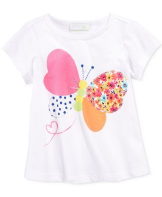 First Impressions Baby Clothes Cool First Impressions Baby Girls' Patchwork Butterfly Tshirt Only At Design Decoration