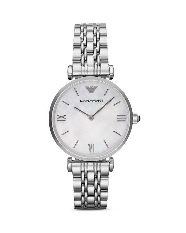 46cb07a3c Emporio Armani Round Link Watch, 31mm Hodinky Rolex, Dámské Hodinky,  Emporio Armani,