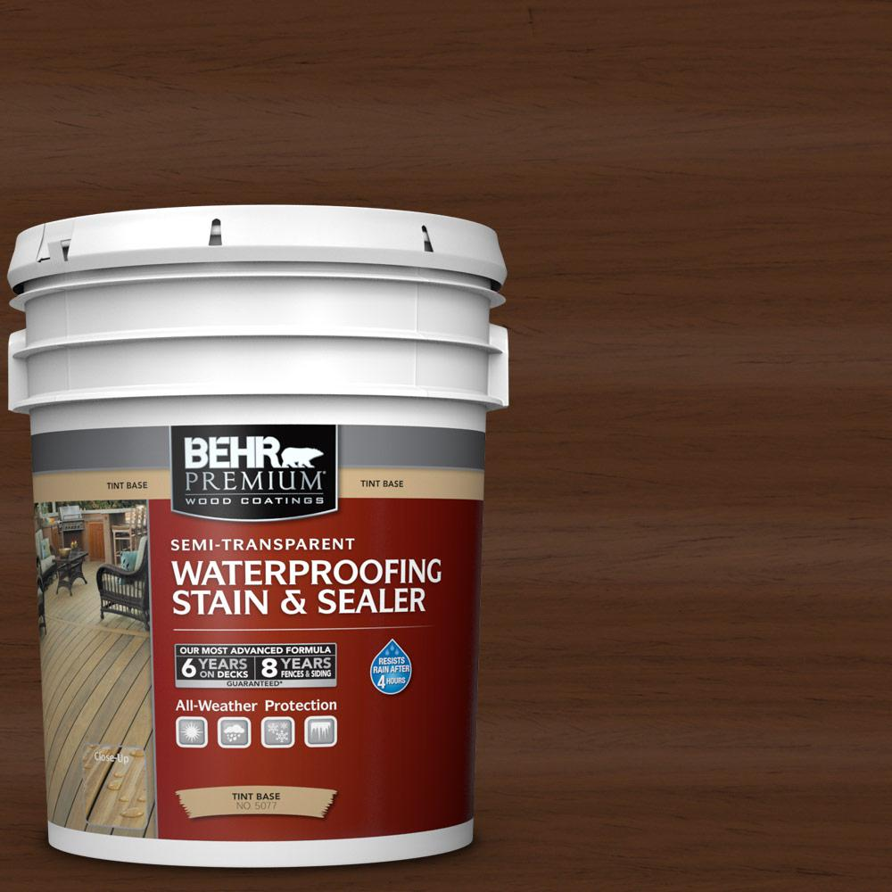 Behr Premium 5 Gal St 123 Valise Semi Transparent Waterproofing Exterior Wood Stain And Sealer 507705 The Home Depot Exterior Wood Stain Staining Wood Exterior Wood