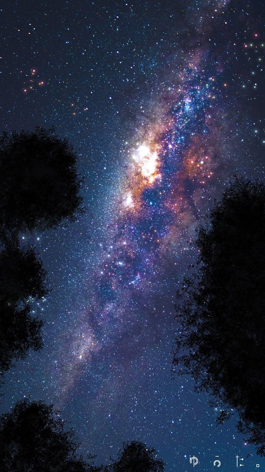 Milky way in the night wallpaper iphone android