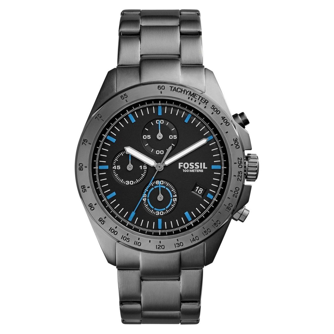 Fossil Men's CH3047 Sport 54 Chronograph Black Dial Grey
