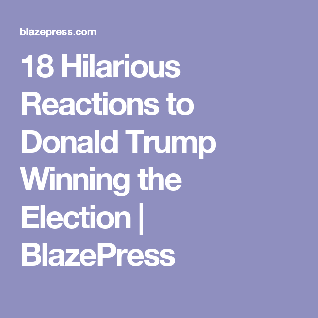 Hilarious Reactions To Donald Trump Winning The Election - 18 hilarious reactions to donald trump winning the election