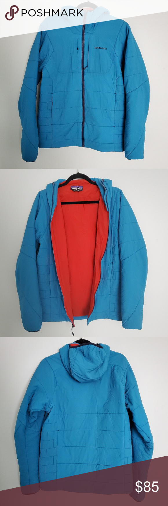 Patagonia Man's Blue Nano Air Hoody Jacket Hoodie jacket