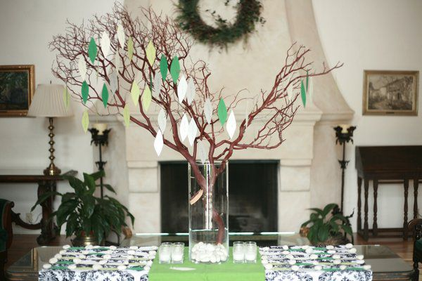 wishing tree for guests to write wishes advice on another guest