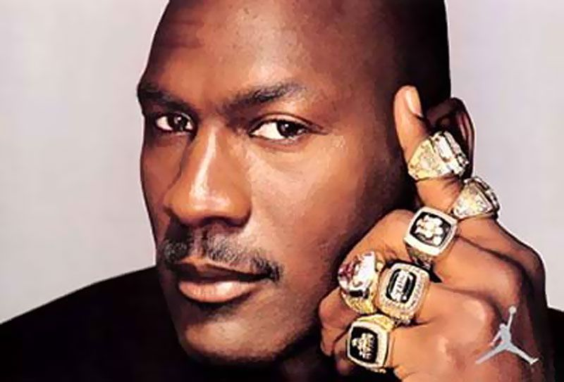 Image result for jordan with his rings