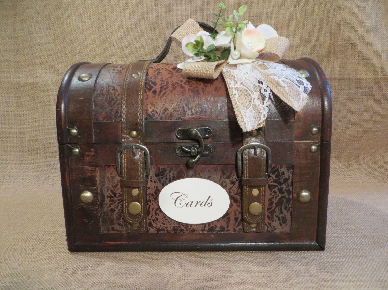Large Wedding Trunk Card Holder Box Money