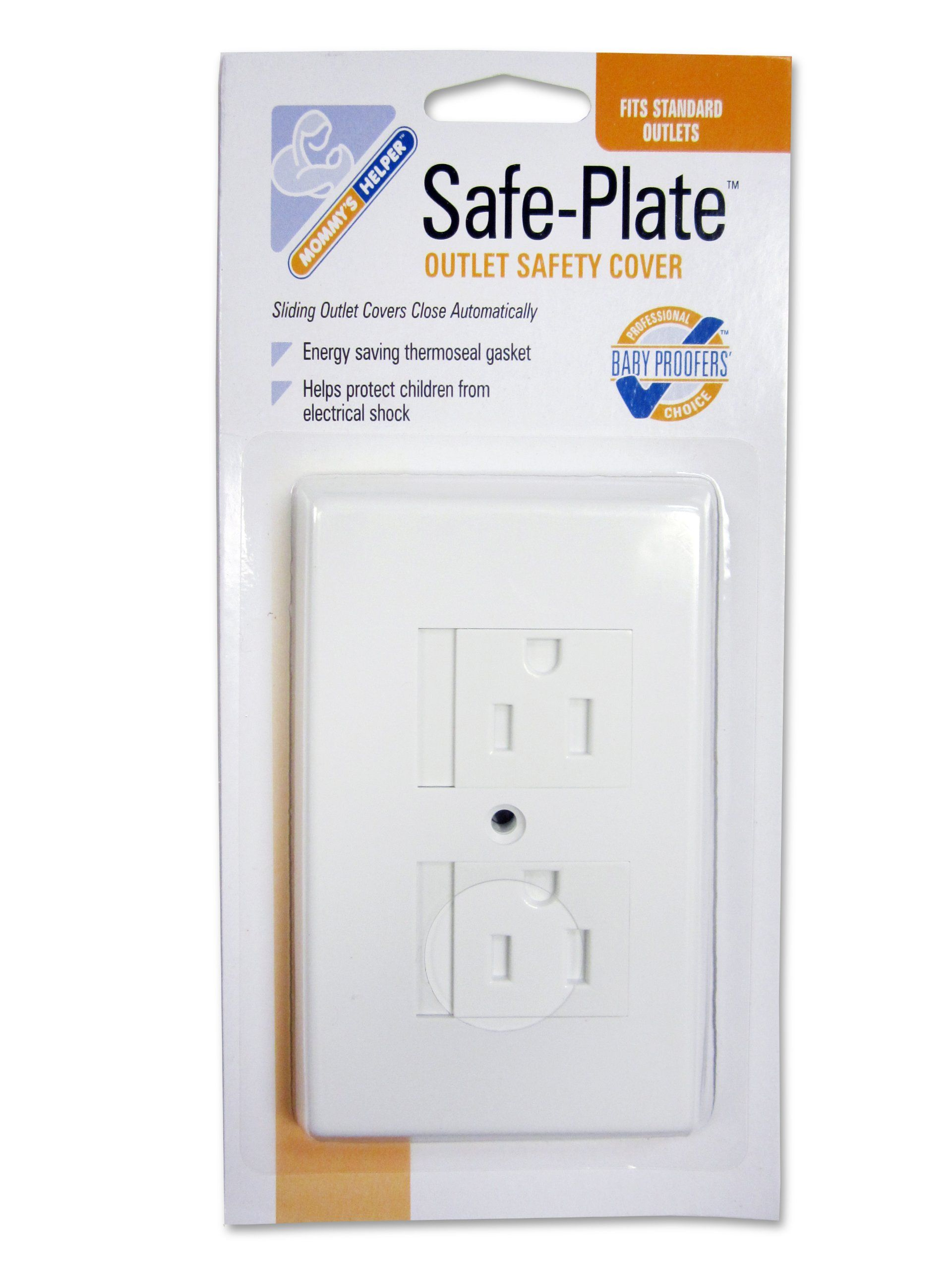 White Electrical Outlet Covers Amazon  Mommys Helper Safe Plate Electrical Outlet Covers