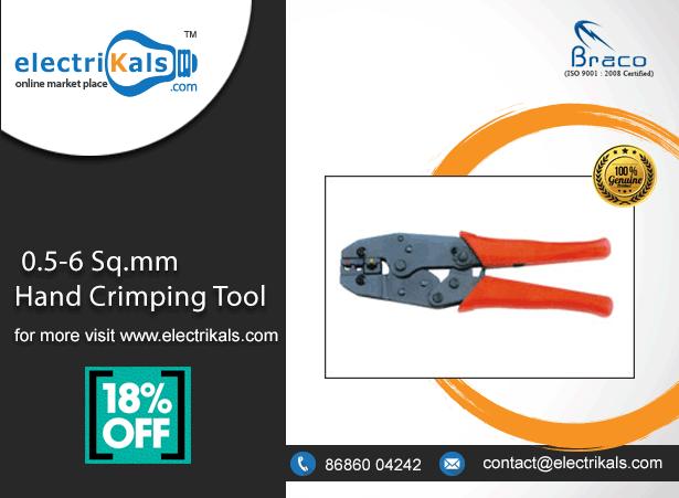Handcrimpingtool Braco Thd 006 0 5 6 Sq Mm Hand Crimping Tool Online Electrikals Com Electricaltools Onlineshopping Crimping Tool Crimping Online Tools