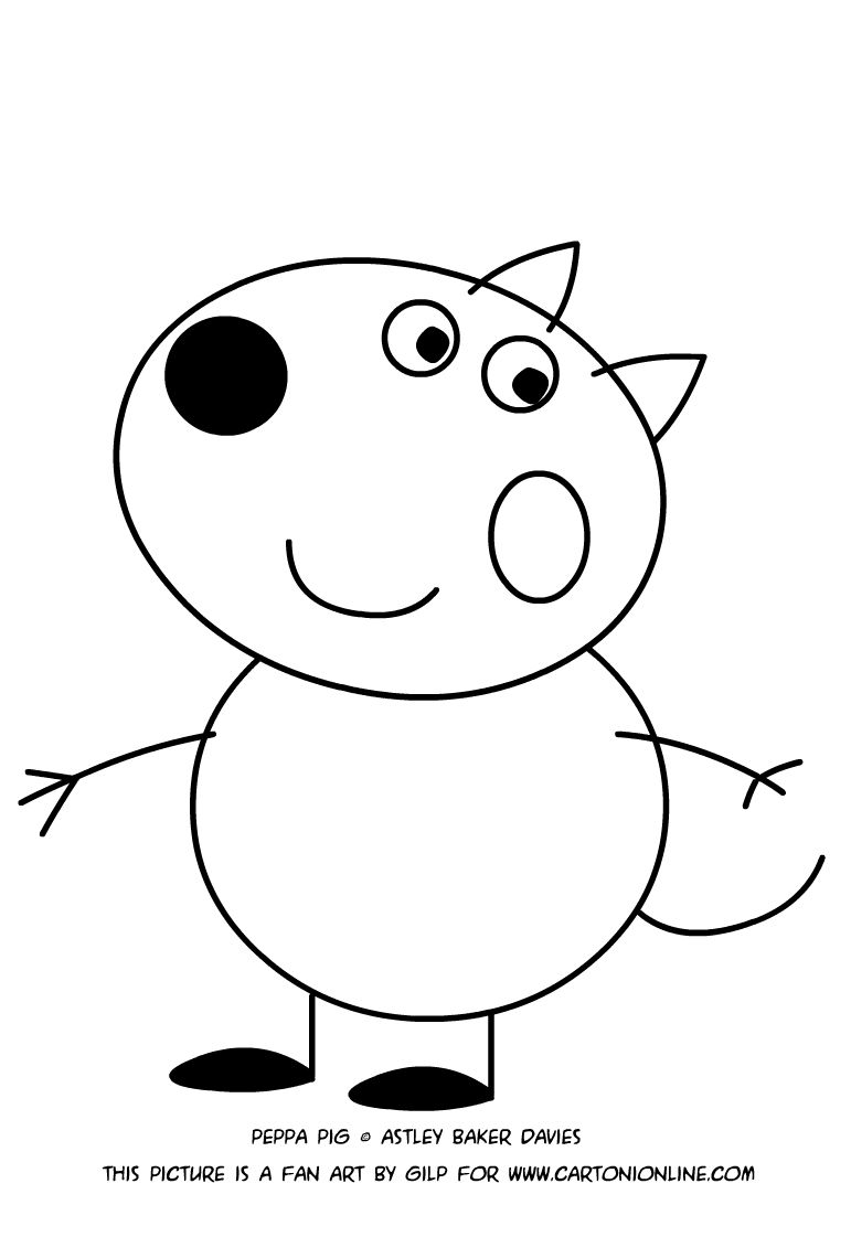 Peppa Pig Coloring Pages Danny Dog Coloring Pages Allow Kids To Accompany Their Favorite Peppa Pig Coloring Pages Coloring Pages For Kids Dog Coloring Page