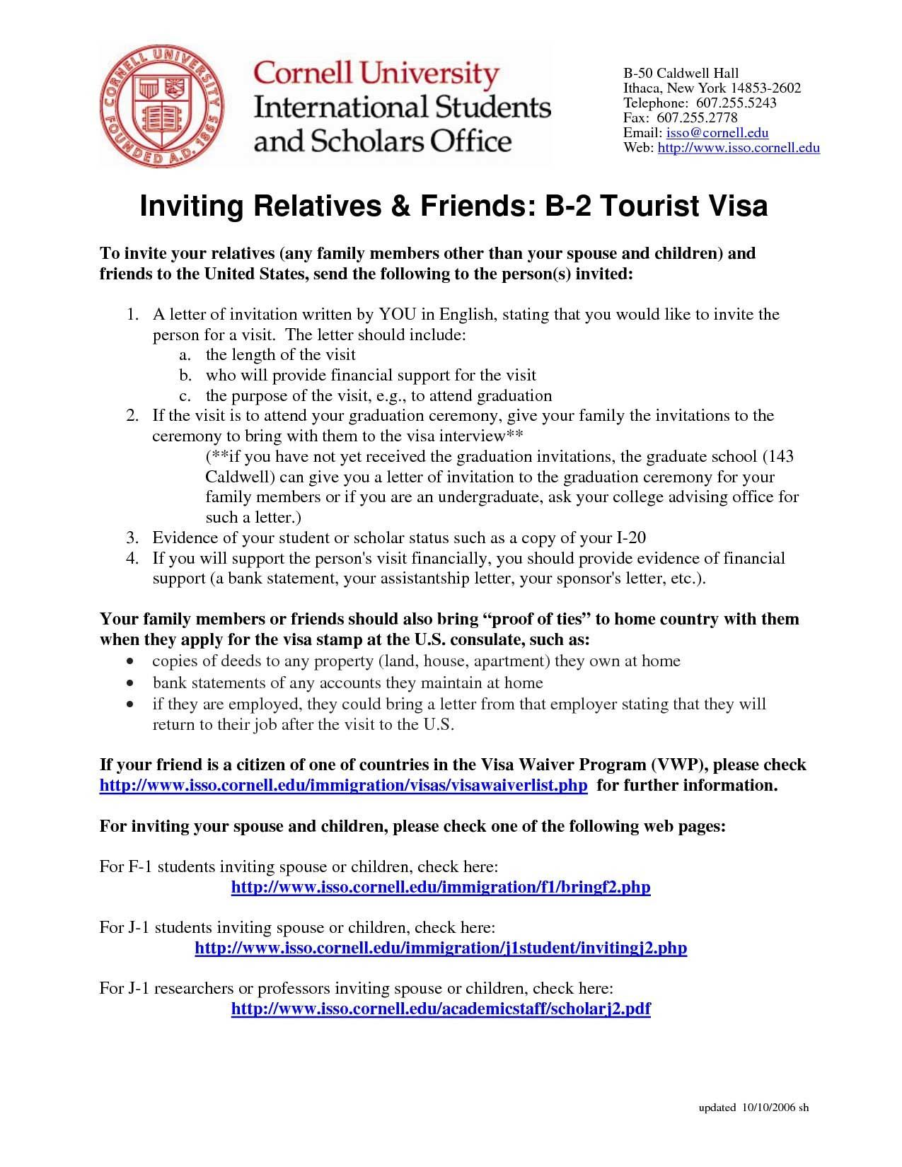 10 invitation letter for us visa sample