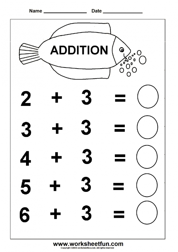 beginner addition 6 kindergarten worksheets free level