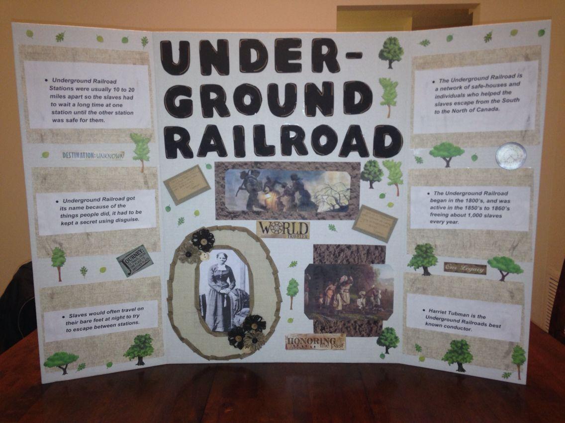 School Project On The Underground Railroad Amp Harriet
