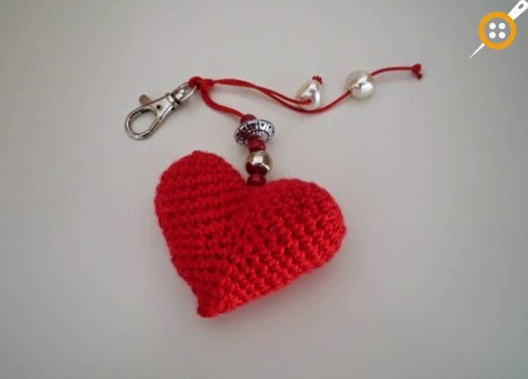 Kalp Motifi Aplike Yapımı - Çok Kolay Tığ İşi Kalp Yapımı | Kroşe ... | 539x750